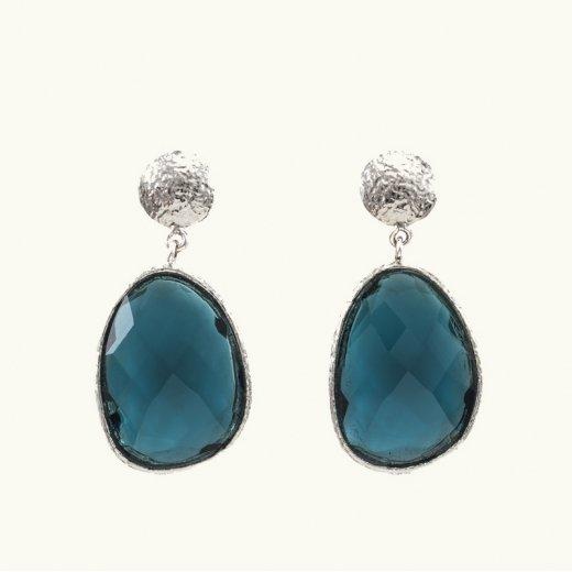 Brincos Pedra Azul