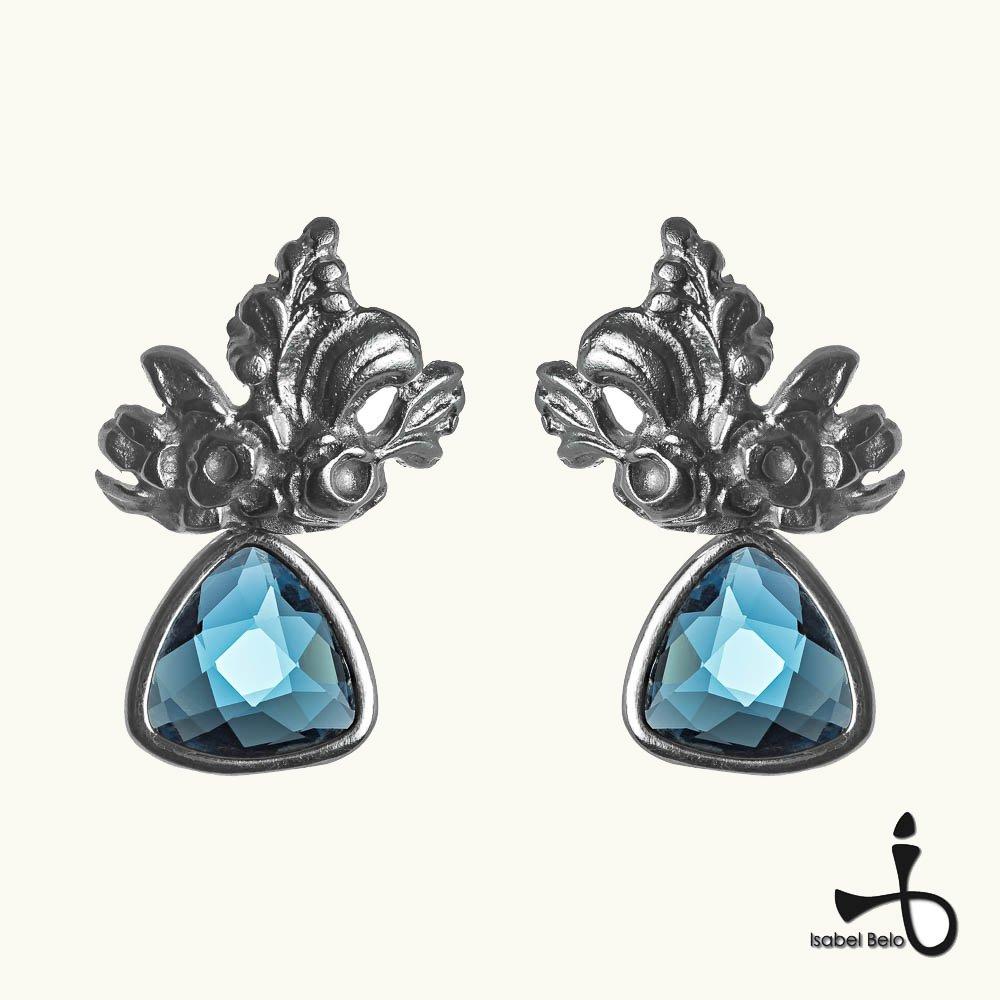 Brincos Cristal Azul